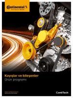 Kayışlar ve bileşenler - Ürün programı (PDF | TR