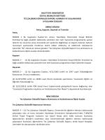 Sosyal Bilimler Enstitüsü TEZ ÇALISMASI ORJINALLIK RAPORU