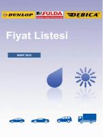 Multibrand Yaz Fiyat Listesi - Mart 2015