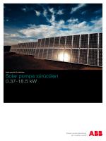 Solar pompa sürücüleri 0.37-18.5 kW