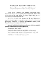 Sözleşme imzalama ve teslim işlemleri duyurusu