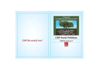 CHP Enerji Politikası Raporu
