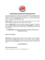Pembe Panter 2 Burger King® Restoranları`nda!