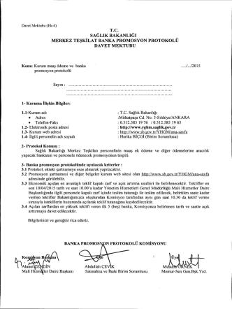 Davet Mektubu - Sağlık Bakanlığı Personel Genel Müdürlüğü
