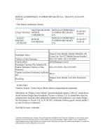 01.04.2015 18:05:48 Özel Durum Açıklaması (Genel)