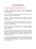 2015-2016 Mevlana Değişim Programı İlanı