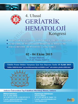 4. Ulusal 4. Ulusal - Geriatrik Hematoloji Derneği