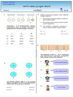 7. Sınıf 14. Haftasonu Çalışma Ödevi