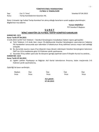2.a.l.tertip komitesi kararı - TFF İstanbul İl Başkanlığı