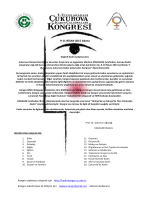 9-11 NİSAN 2015 Adana - Çukurova Üniversitesi