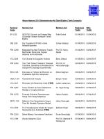 Nisan-Haziran 2015 Seminerlerine Ait Özet Bilgiler (Tarih Sırasıyla