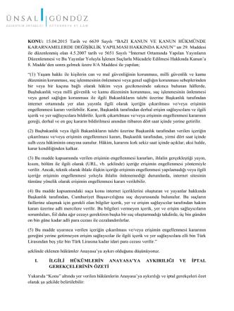 AYM 5651 Yeni Hukumler White Paper