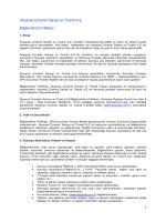 Akçansa Çimento Sanayi ve Ticaret A.Ş. Bilgilendirme Politikası