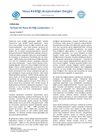 Tam metin (PDF) - Hava Kirliliği Araştırmaları Dergisi