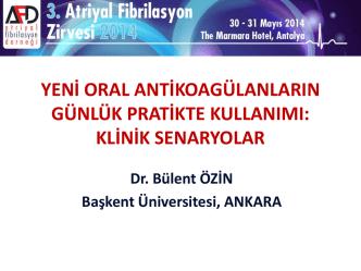 Bülent Özin - 4. atriyal fibrilasyon zirvesi 2015