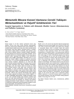 Metastatik Mesane Kanseri Hastasına Cerrahi Yaklaşım