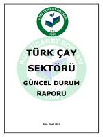 Türk Çay Sektörü Güncel Durum Raporu
