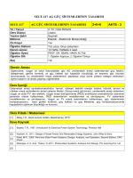 Ders Bilgilerini PDF olarak indiriniz