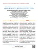 TEKHARF 2013 taraması ve diyabet prevalansında hızlı artış