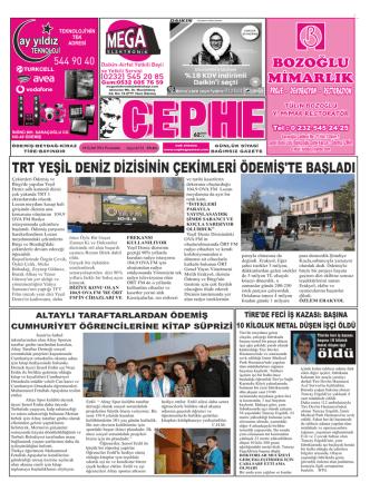 18.09.2014 Tarihli Cephe Gazetesi