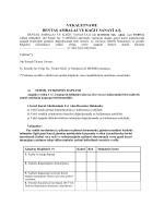 Vekaletname - dentaş ambalaj ve kağıt sanayi a.ş.