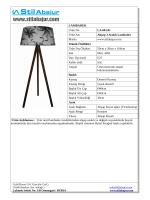 LAMBADER Ürün No LA.001.01 Ürün Adı Ahşap 3 Ayaklı Lambader