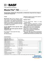 MasterTile® 700 (Eski Adı Epofuga®) Epoksi Esaslı, İki