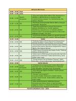 10:30 Kayıt 10:30 - Kauçuk Kongresi 2014