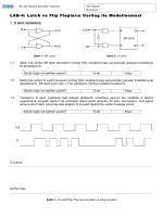 LAB-4: Latch ve Flip Flopların Verilog ile Modellenmesi