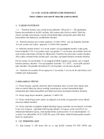 112 ACİL SAĞLIK HİZMETLERİ PERSONELİ ÖZEL GÖREV