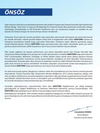 2014 Boğa Kataloğu - Uşak Damızlık Sığır Yetiştiricileri Birliği