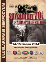 tıklayınız. - Sürgünün 70. Yılında Ahıska Türkleri Uluslararası