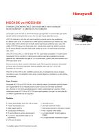 HCC10X ve HCC210X - Honeywell Security
