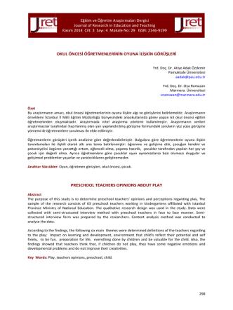 29.Adak Özdemir - Eğitim ve Öğretim Araştırmaları Dergisi