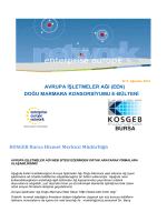 KOSGEB Bursa Hizmet Merkezi Müdürlüğü AVRUPA İŞLETMELER