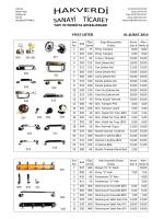 Ürünler ve Fiyat Listesi