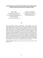 Otojen Deformasyonu Önlemede Hafif Agrega Kullanımının Yüksek