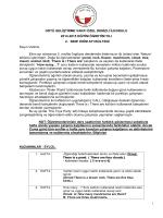 1 ODTÜ GELİŞTİRME VAKFI ÖZEL DENİZLİ İLKOKULU 2014-2015