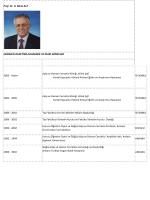 Prof. Dr. H. Mete ALP HEKİMLİK DENEYİMİ,AKADEMİK VE İDARİ
