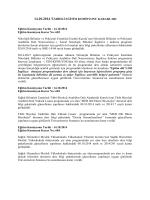 14.10.14 tarihli Eğitim Komisyonu Kararları