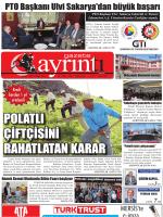 14 Mayıs 2014 - Polatlı Gazete Ayrıntı