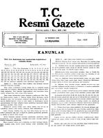TC esmî Gazete - Resmi Gazete