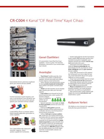 "CR-C004 4 Kanal ""CIF Real Time"" Kayıt Cihazı"