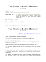 Two Hearts In Perfect Harmony Two Hearts In Perfect