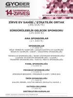 GYODER sponsorluk kiti GENEL UYELER