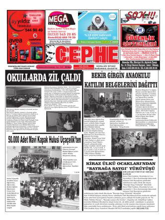 14.06.2014 Tarihli Cephe Gazetesi