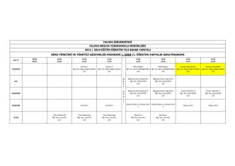 büro yönetimi ve yönetici asistanlığı programı 1. sınıf