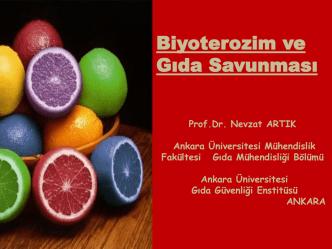 Biyoterozim ve Gıda Savunması