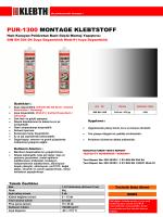 PUR-1300 MONTAGE KLEBTSTOFF