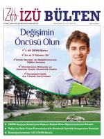 Mayıs 2014 bülteni - İstanbul Sabahattin Zaim Üniversitesi